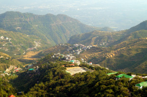 mussorie hills and view of the doon valley mussorie uttarakhand india