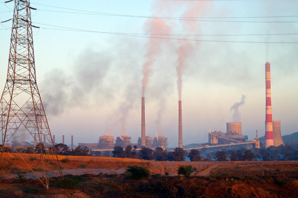 pollution thermal power plant at sarni betul district madhya pradesh india