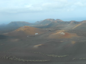 look out the window there is no life here timanfaya national parc lanzarote spain