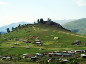a landscape at the khalkhal asalem road iran