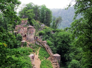 the ghalerodkhan monument hyrcanian forests iran