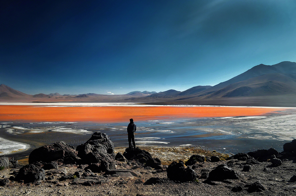 Poisonous waters of Laguna Colorada