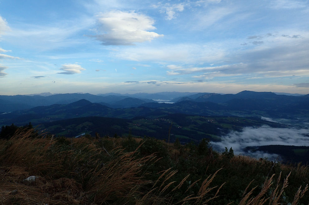 Mystic Austrian landscape: from hills to Alps