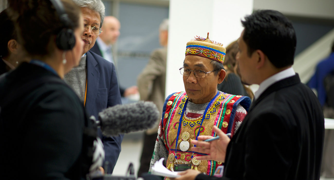 Interview with indigenous leader from Indonesia at the 2015 Global Landscapes Forum