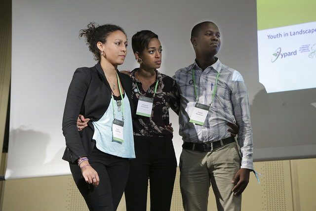 GLFCOP21 Youth in Landscapes' Dragons Den Young development professionals and students could pitch solutions to global landscape challenges to a panel of experts in a Dragon's Den Style Event. © Andrew Wheeler for Wild Dog Limited / WLE_CGIAR 2015 all rights reserved worldwide.
